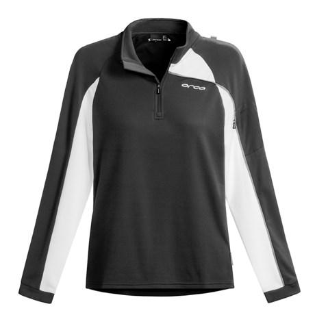 Orca Active Fleece Shirt - Quarter-Zip Neck, Long Sleeve (For Women) in Black
