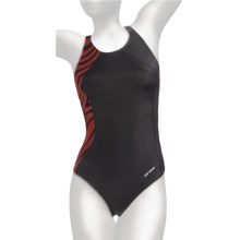 Orca Cl-R Swimsuit - Racerback, 1-Piece (For Women) in Black/Mars - Closeouts