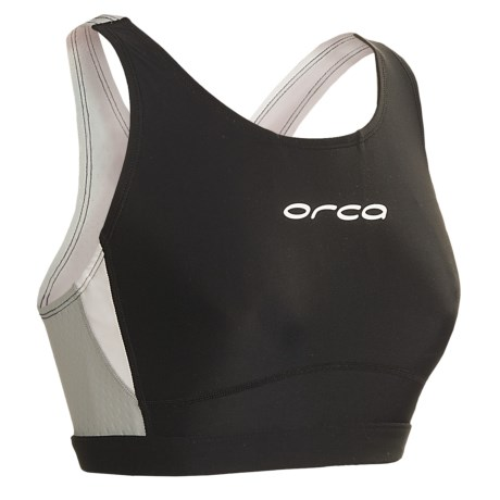Orca Core Sports Bra (For Women) in Black/Silver
