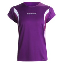 Orca Core Tri Shirt - Short Sleeve (For Women) in Purple/White - Closeouts