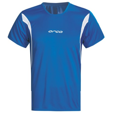 Orca Core Tri T-Shirt - Short Sleeve (For Men) in Blue/White