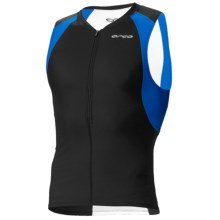 Orca Core Tri Tank Top (For Men) in Black/Coral Blue - Closeouts