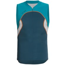 Orca Core Tri Tank Top - Zip Neck (For Men) in Mallard Blue/Dresden Blue - Closeouts