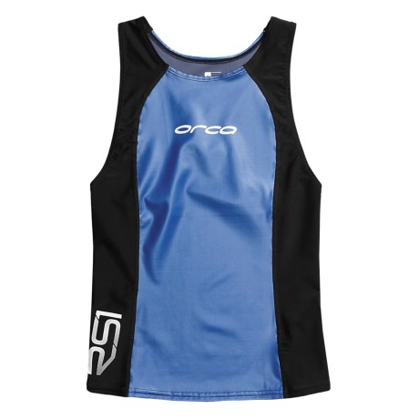 Orca RS1 Aero Tri Singlet (For Men) in Black/Star Saphire