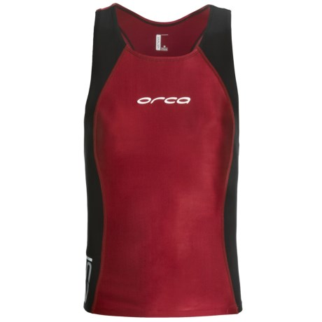 Orca RS1 Killa Tri Singlet (For Men) in Black/Red