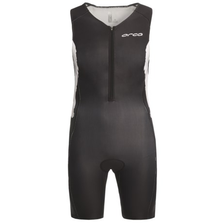 Orca Triathlon Race Suit - Sleeveless (For Men) in Black/White