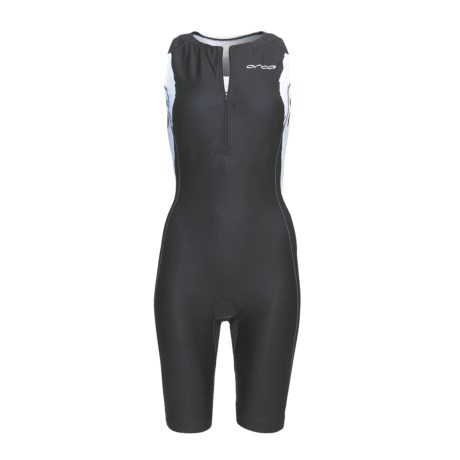 Orca Triathlon Race Suit - Sleeveless (For Women) in Black/White