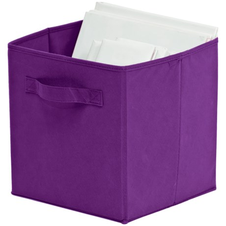 Organize It! Simple Storage Folding Cubes - Large, 2-Pack in Purple