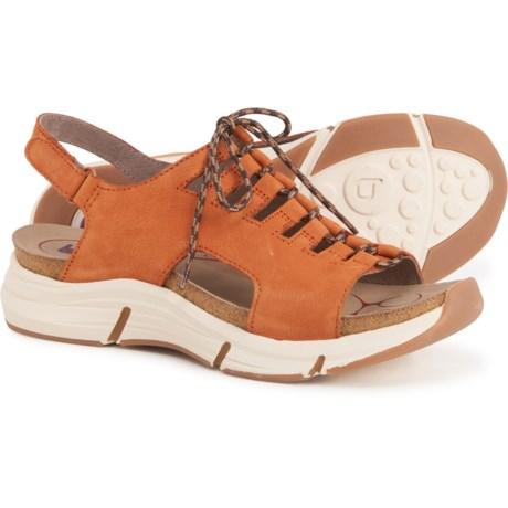 Ormond Sandals - Nubuck (For Women) - CASHEW ORANGE (6 ) -  Bionica