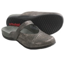 Orthaheel Airlie Shoes - Slip-Ons (For Women) in Pewter - Closeouts