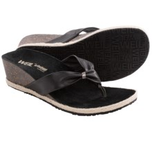 Orthaheel Calm Toe Post Wedge Sandals (For Women) in Black - Closeouts