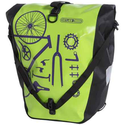 Ortlieb Back-Roller Classic Cycling Panniers - Pair in Lime/Black - Closeouts