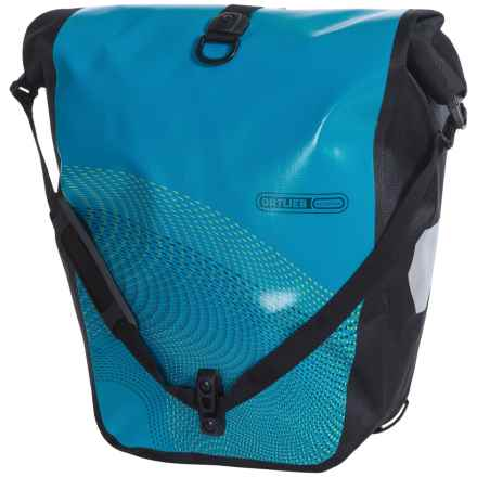 Ortlieb Back-Roller Classic Cycling Panniers - Pair in Ocean Blue/Black - Closeouts