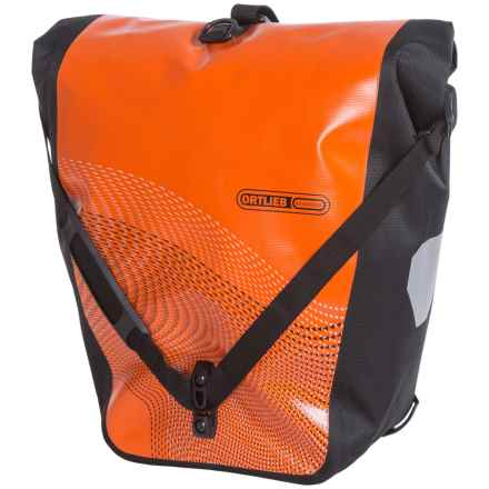 Ortlieb Back-Roller Classic Cycling Panniers - Pair in Orange/Black - Closeouts