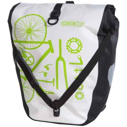 Ortlieb Back-Roller Classic Cycling Panniers - Pair in White/Black - Closeouts
