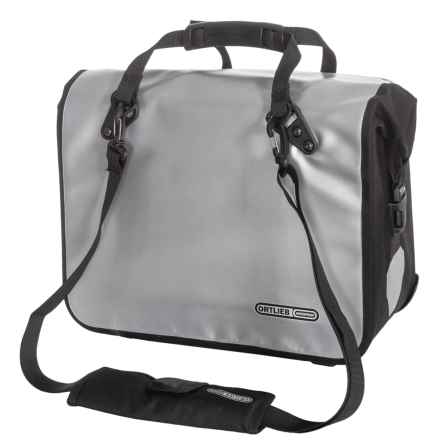 Ortlieb Classic QL2 Bike Office Bag - Large in Silver/Black - Closeouts