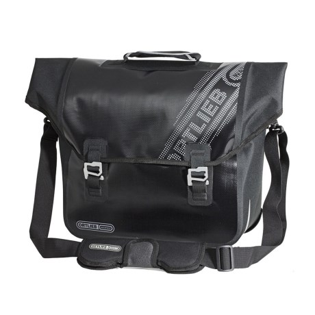 Ortlieb Downtown Black N' White QL3.1 Pannier - Waterproof, 18L in Black