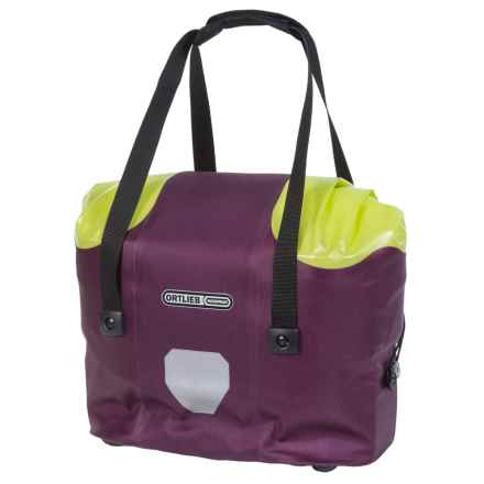 Ortlieb Front Handlebar Basket - Waterproof in Purple/Light Green - Closeouts