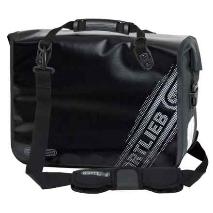 Ortlieb Office Bag QL2.1 Black N' White Pannier in Black - Closeouts