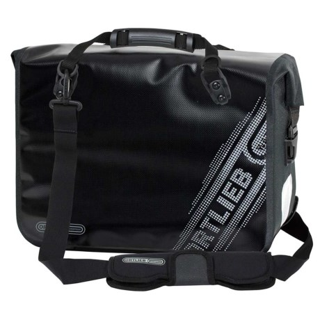 Ortlieb Office Bag QL2.1 Black N' White Pannier in Black