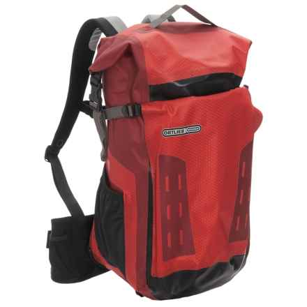 Ortlieb Track 27L Backpack - Waterproof in Signal Red/Dark Chili - Closeouts