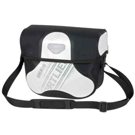 Ortlieb Ultimate6 Black N' White Handlebar Bag - Waterproof in White/Black - Closeouts