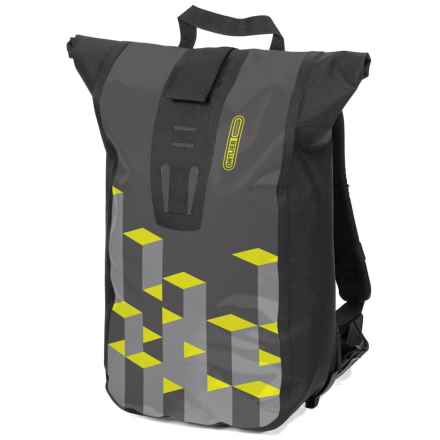 Ortlieb Velocity Design Backpack in Black/Neon/Gray - Closeouts