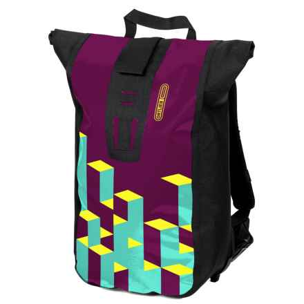 Ortlieb Velocity Design Backpack in Purple/Neon/Petrol - Closeouts