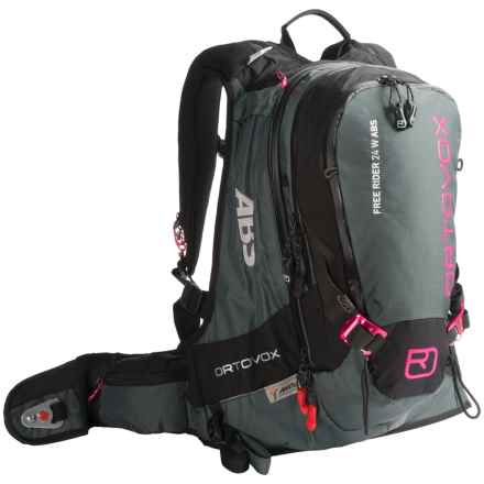 Ortovox Free Rider 24L ABS Backpack (For Women) in Black/Anthracite/Pink - Closeouts