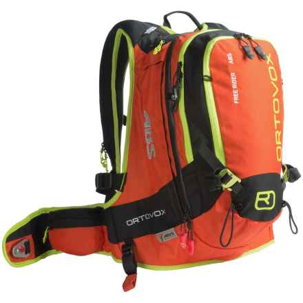 Ortovox Free Rider 24L ABS Backpack in Crazy Orange - Closeouts