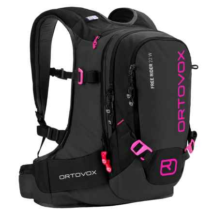 Ortovox Free Rider Backpack - 22L (For Women) in Black/Anthracite/Pink - Closeouts