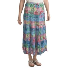 Orvis 15 Tier Skirt - Crinkle Cotton Voile (For Women) in Multi Print - Closeouts