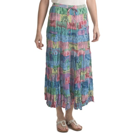 Orvis 15 Tier Skirt - Crinkle Cotton Voile (For Women) in Multi Print