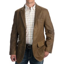 Orvis Cattleman's Sport Jacket - Leather (For Men) in Brown - Closeouts