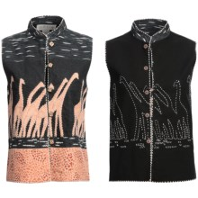 Orvis Hand-Embroidered Vest - Reversible (For Women) in Giraffe/Black - Closeouts