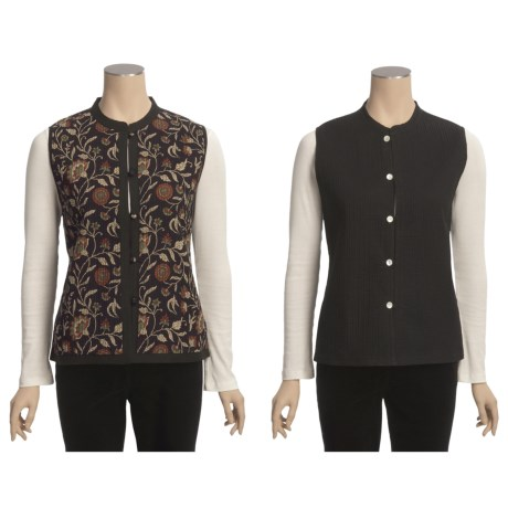 Orvis Quilted Reversible Printed Vest - Cotton (For Women)