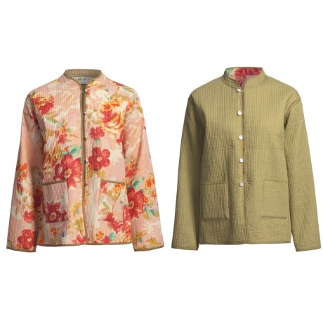 Orvis Reversible Printed Patch Pocket Jacket - Cotton (For Women)