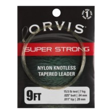Orvis Super Strong Knotless Fly Leader - 9' in See Photo - Closeouts