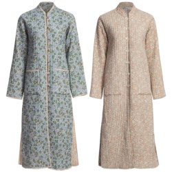 Orvis Trapunto Quilted Robe - Reversible (For Women) in Blue Multi