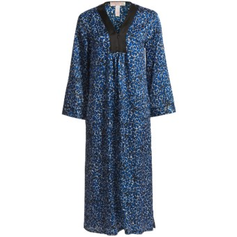 Oscar de la Renta Pink Label Imari Caftan - Zip Front (For Women) in Blue Multi