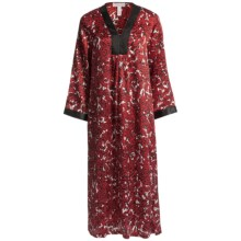 Oscar de la Renta Pink Label Zahara Nights Caftan - Zip Front (For Women) in Red Print - Closeouts