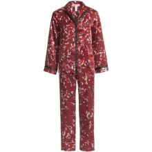 Oscar de la Renta Pink Label Zahara Nights Pajamas - Long Sleeve (For Women) in Red Print - Closeouts