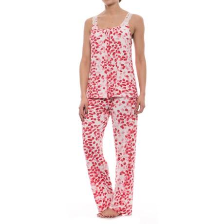 Oscar de la Renta Pink Oscar de la Renta Floral Cami Pajamas - Sleeveless (For Women) in Rose Petal