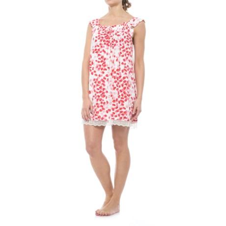 Oscar de la Renta Pink Oscar de la Renta Ruffled Nightgown - Short Sleeve (For Women) in Rose Petal