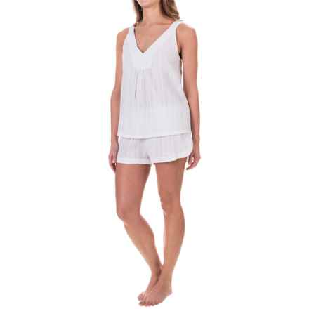Oscar De La Renta Short Pajamas - Sleeveless (For Women) in Peral White - Closeouts