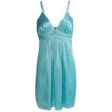 Oscar de la Renta Signature Charmeuse Gown - Sleeveless (For Women) in Blue Lagoon - Closeouts