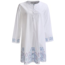 Oscar de la Renta Signature Filigree Scroll Halftan - Long Sleeve (For Women) in White - Closeouts