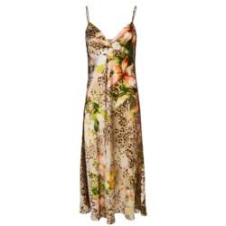Oscar de la Renta Signature Long Nightgown - Spaghetti Strap (For Women) in Tiger Lily