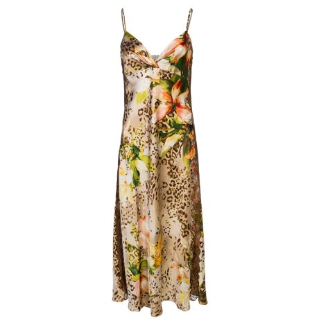 Oscar de la Renta Signature Long Nightgown - Spaghetti Strap (For Women) in Tiger Lily