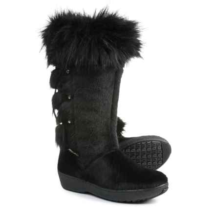 Oscar Sport Tall Calf-Hair Boots (For Women) in Black - Closeouts